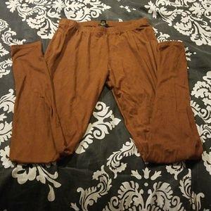Brown forever 21 leggings